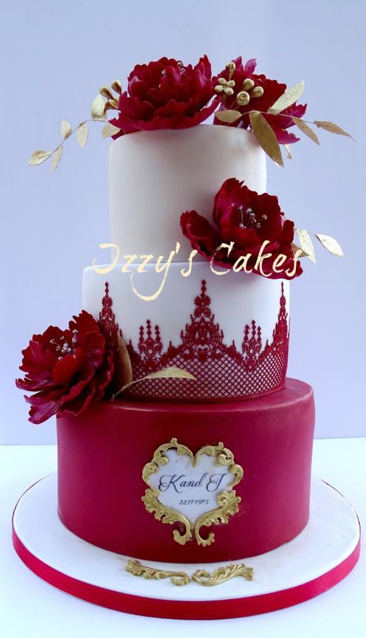 12 Ruby Wedding Cakes Photo Ruby Wedding Anniversary Cake Ruby