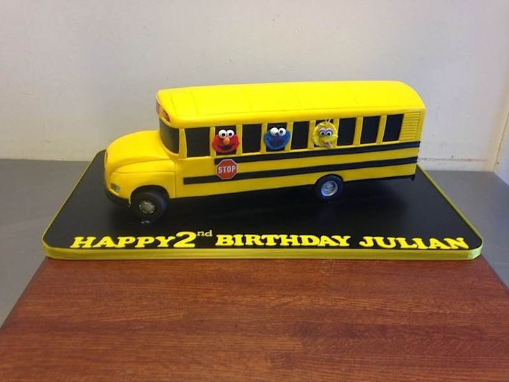10 Formal School Bus Cakes Photo School Bus Cake School Bus Cake
