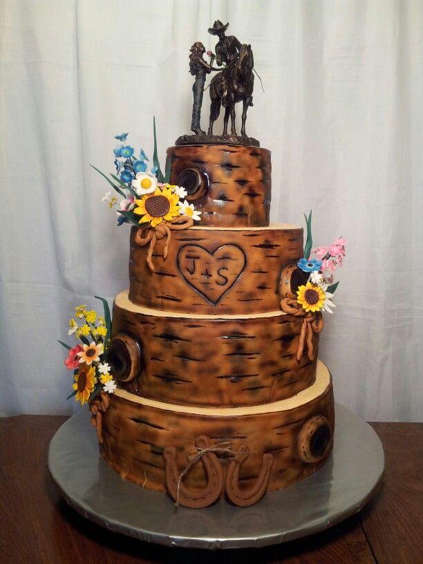 6 Bark Decorations For Cakes Photo - Tree Bark Wedding Cake, Birch ...
