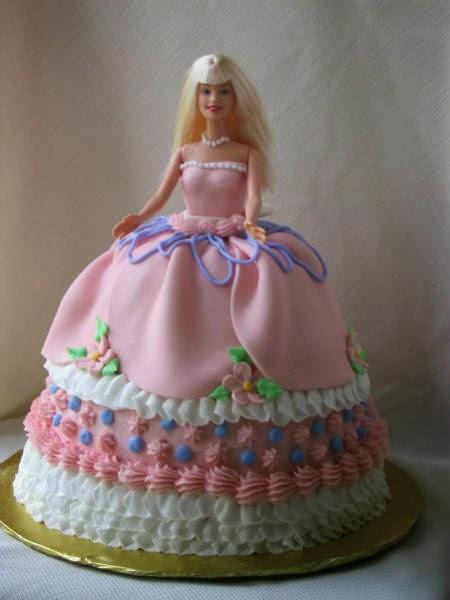 Peachy 12 Cute Barbie Girl Birthday Cakes Photo Cute Barbie Birthday Personalised Birthday Cards Veneteletsinfo