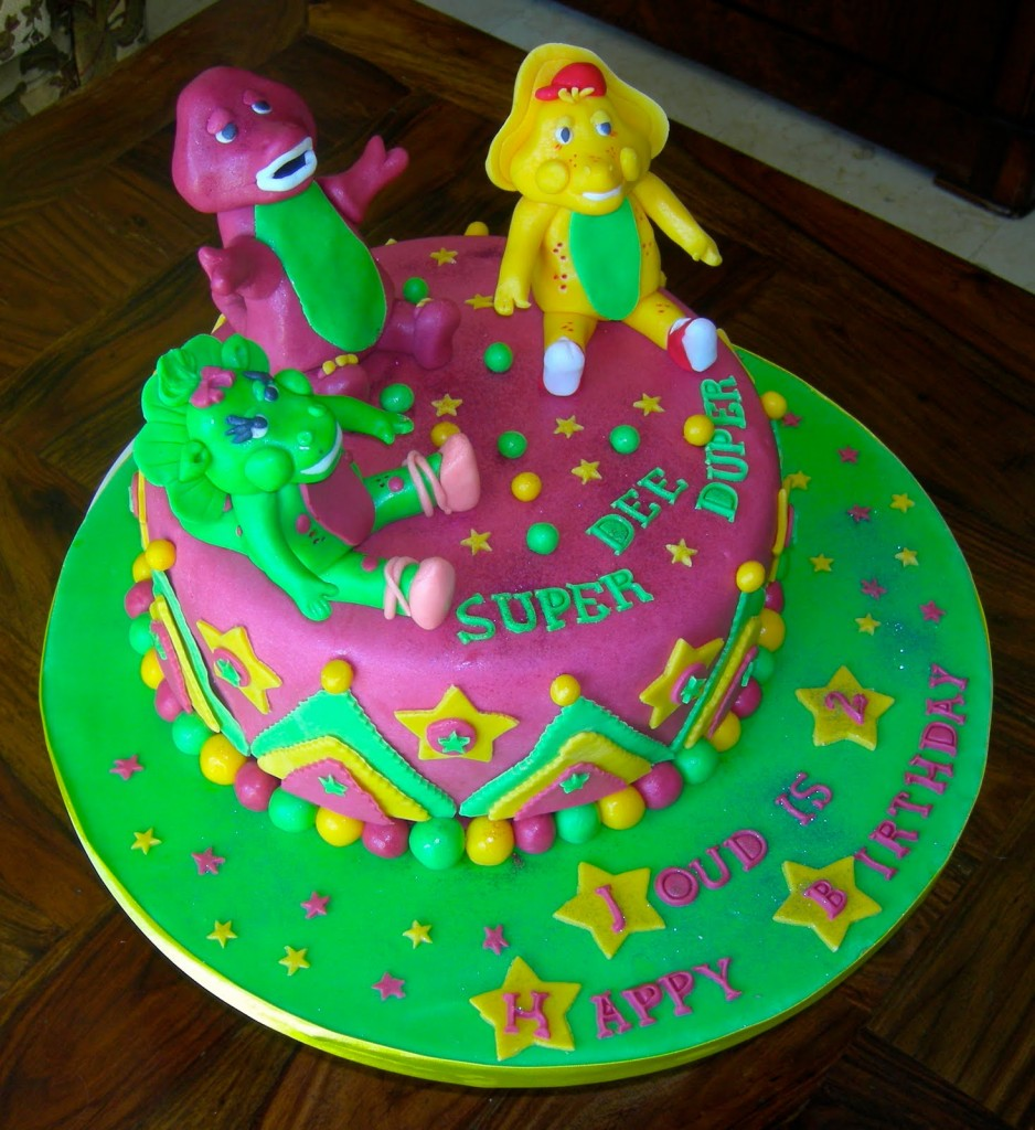 Remarkable 7 Barney Cakes Designs Photo Barney Birthday Cake Barney Personalised Birthday Cards Cominlily Jamesorg