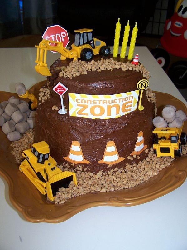 Amazing 11 Construction Birthday Cakes For Boys Photo Boy Construction Funny Birthday Cards Online Alyptdamsfinfo