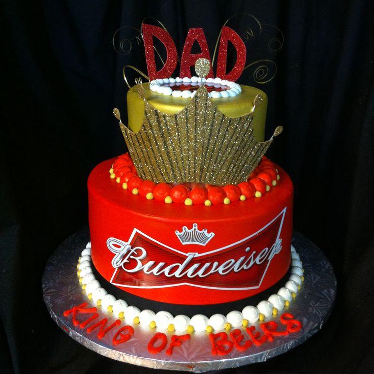 Incredible 10 Budweiser Designed Cakes Photo Budweiser Birthday Cake Funny Birthday Cards Online Elaedamsfinfo