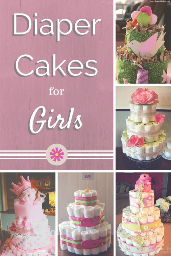 10 Cute Diaper Cakes For Girls Photo Cute Diaper Cake Ideas For