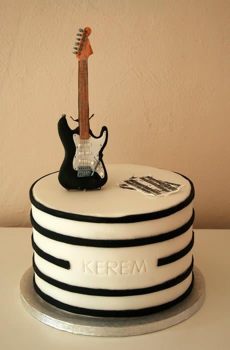 Fantastic 11 Guitar Birthday Cakes For Boys Photo Electric Guitar Birthday Funny Birthday Cards Online Alyptdamsfinfo