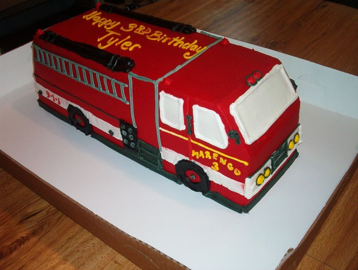 Fine 12 Truck Shaped Cakes For Boys Photo Fire Truck Birthday Cake Funny Birthday Cards Online Elaedamsfinfo