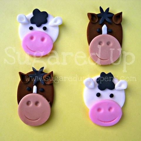 Groovy 11 Horse Barnyard Cupcakes Photo Fondant Cupcake Toppers Farm Personalised Birthday Cards Xaembasilily Jamesorg