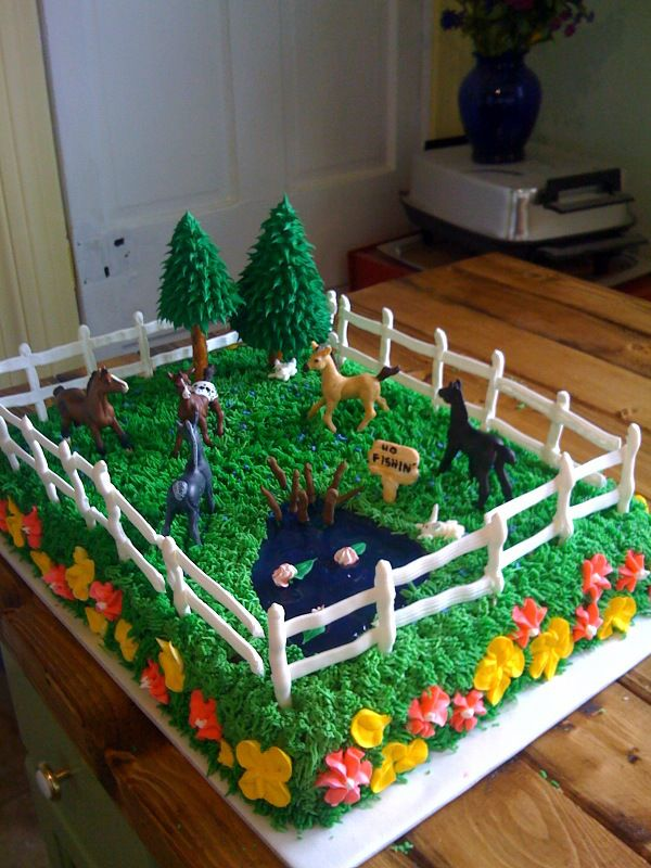 Groovy 13 Decorated Birthday Cakes For Boys With Horses Photo Girls Funny Birthday Cards Online Fluifree Goldxyz