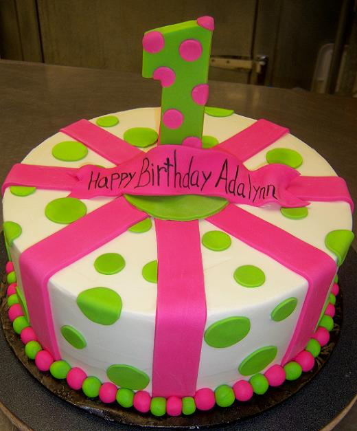 10 Hot Pink Polka Dot Birthday Cakes Photo Pink And Black Polka