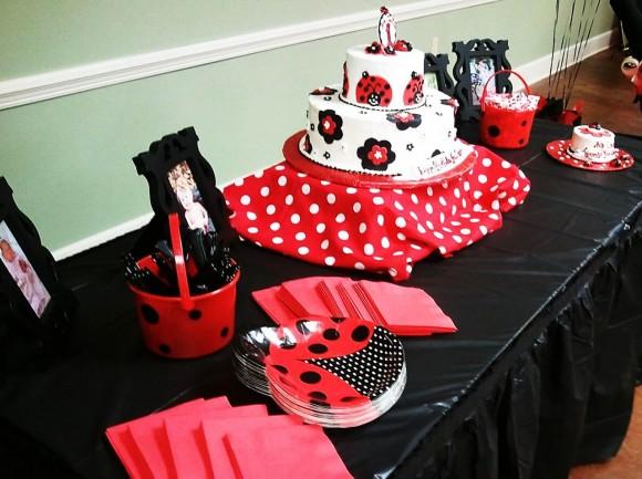 Ladybug Birthday Party Cake Idea