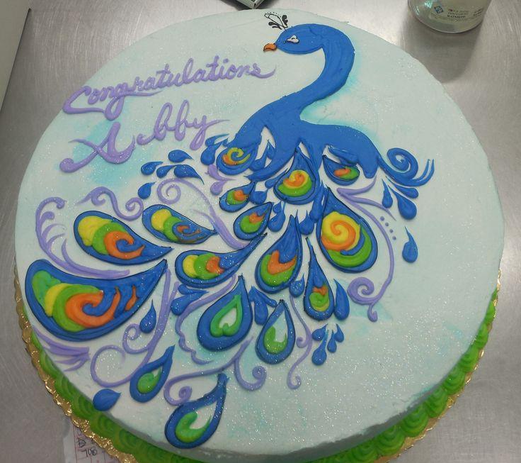Sensational 7 Peacock Birthday Cakes Design Photo Peacock Birthday Cake Personalised Birthday Cards Veneteletsinfo