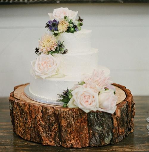 13 Vintage Wedding Cakes With Wood Base Photo - Rustic Wood Cake ...