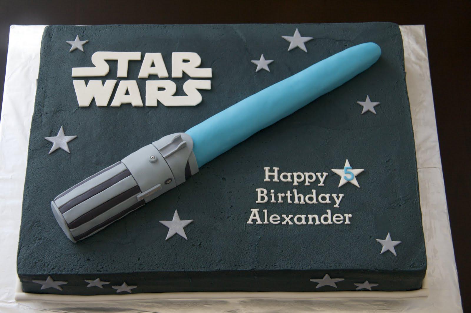 Pleasing 11 Easy Lightsaber Cakes Photo Star Wars Lightsaber Cake Funny Birthday Cards Online Sheoxdamsfinfo
