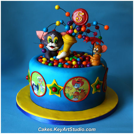 Excellent 9 Tom And Jerry With Birthday Wishes With Cakes Photo Tom And Birthday Cards Printable Trancafe Filternl