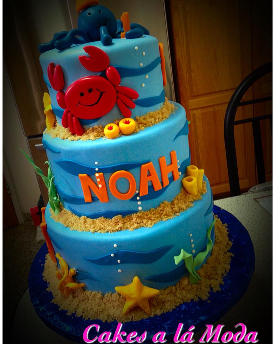 Under Sea Themed Birthday Cakes