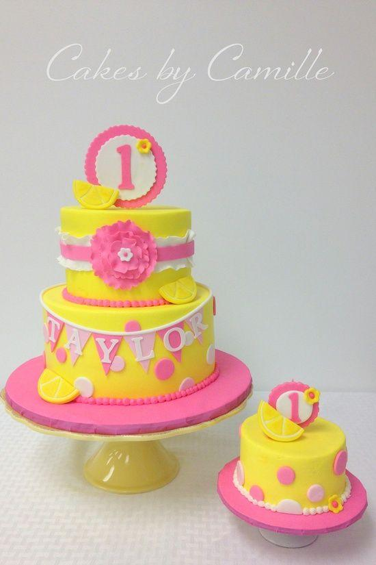 9 Yellow And Pink Girl Birthday Cakes Photo Yellow And Pink