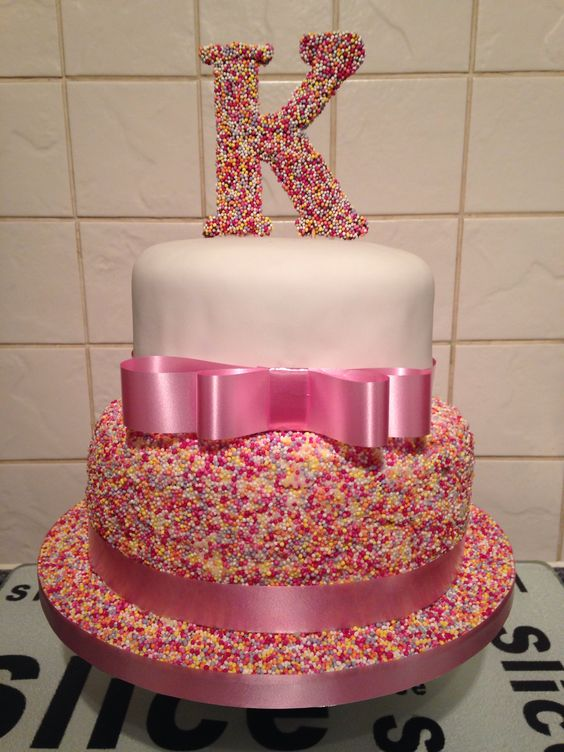 10 2 Tier Birthday Cakes For Girls Photo Two Tier Birthday Cake
