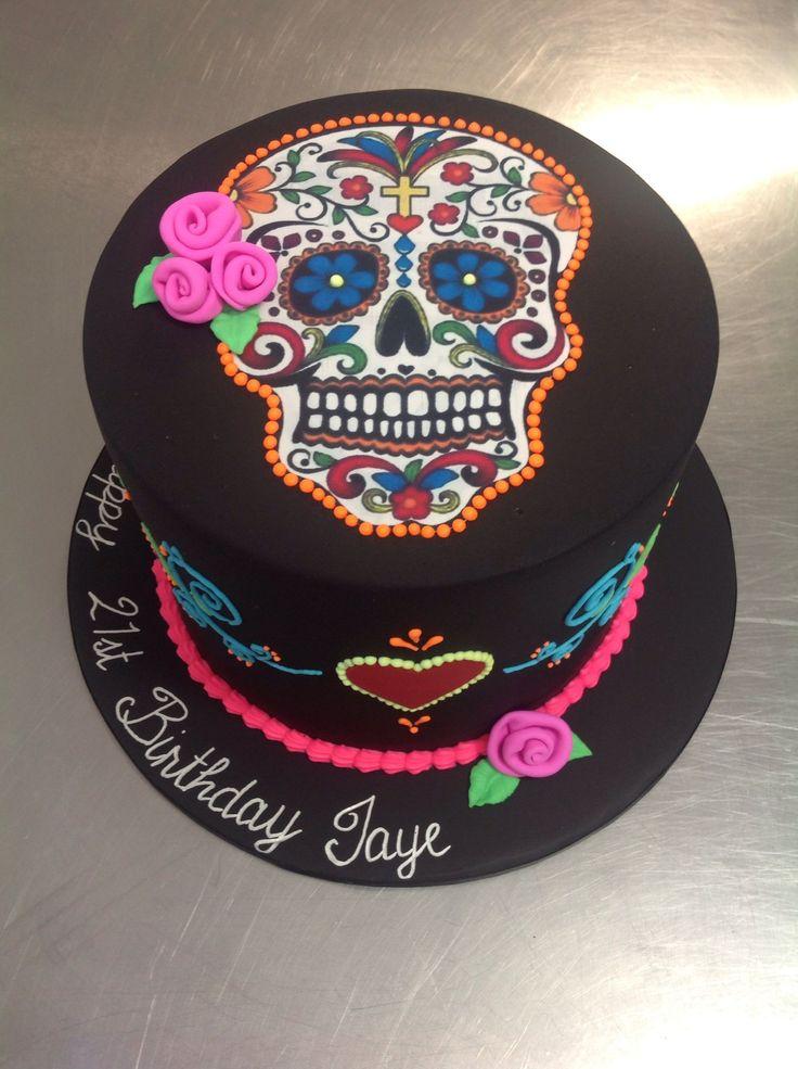 7 Skull Themed Girls Birthday Cakes 13 Photo Skull Birthday Cake