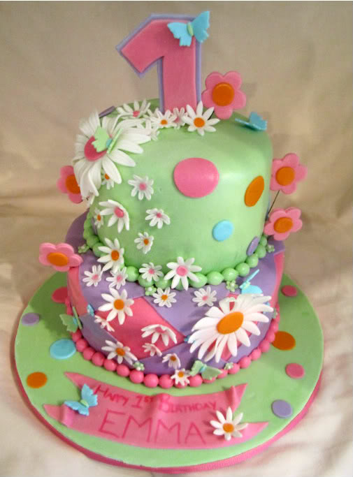 Birthday Cakes With Flowers And Butterflies , Delicious Cake