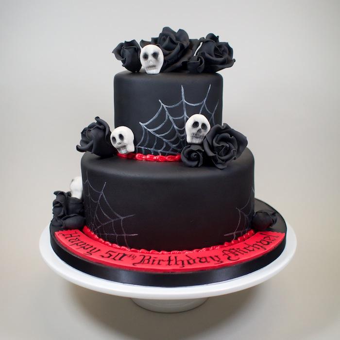 Miraculous 12 Gothic Birthday Rose Cakes Photo Gothic Birthday Cake Gothic Funny Birthday Cards Online Inifofree Goldxyz