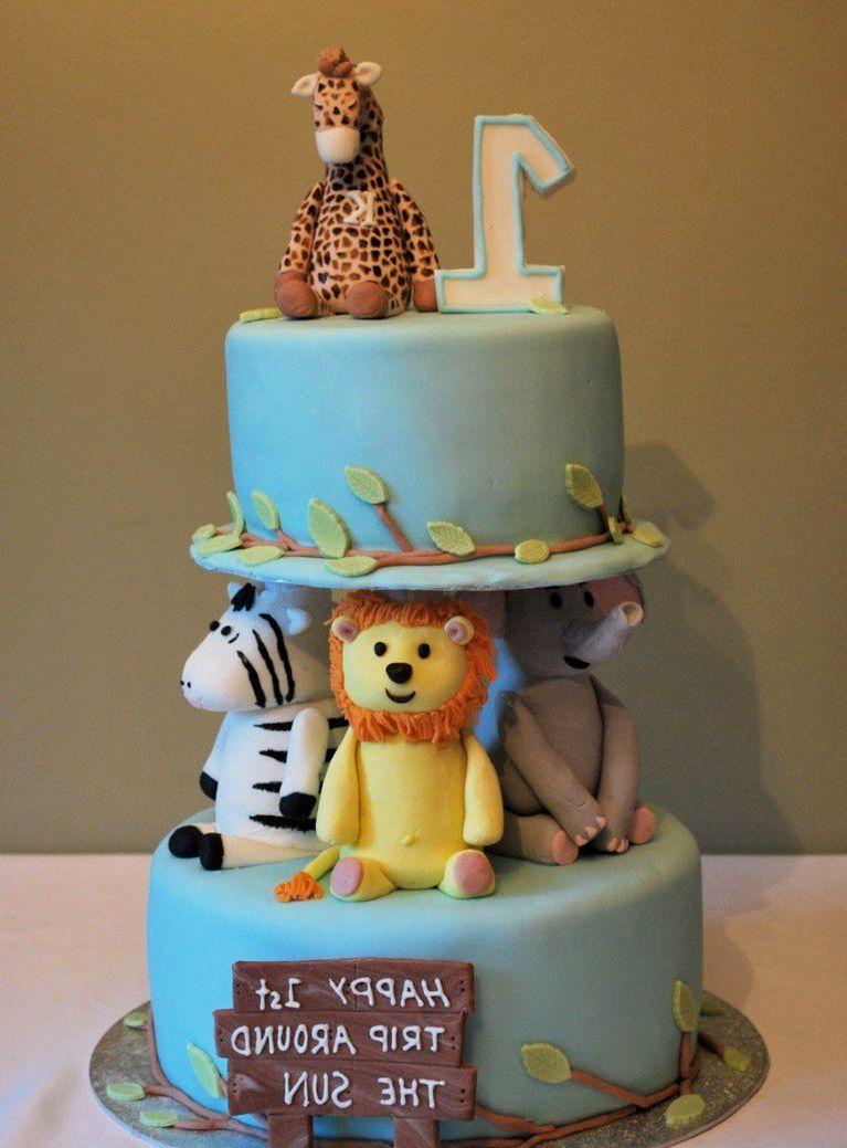 10 Simple Birthday Cakes For Baby Boy Photo Easy Boys Birthday