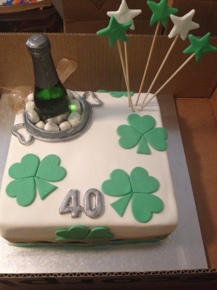 Fabulous 10 Irish Birthday Cakes Design Photo Irish Themed Birthday Cake Personalised Birthday Cards Veneteletsinfo