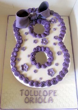 Number 8 Birthday Cake