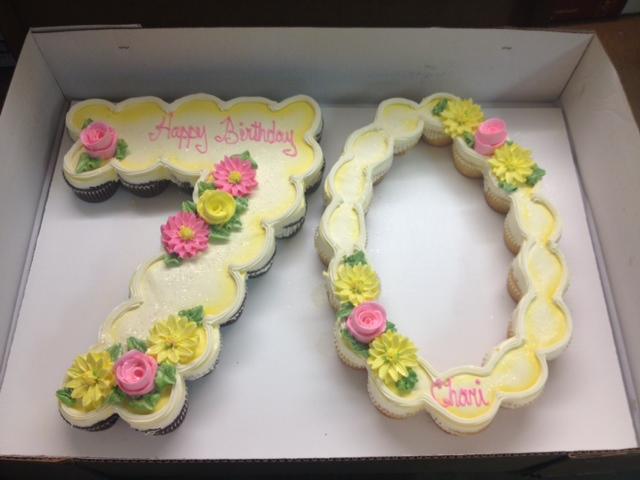 Cupcakes Shaped Like Numbers Photo Number Cupcake Cakes Jpeg 640x480