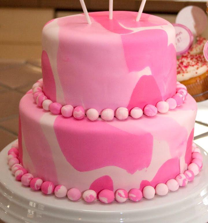 Sensational 12 Pink Camouflage Birthday Cakes Photo Pink Camo Birthday Cake Personalised Birthday Cards Paralily Jamesorg