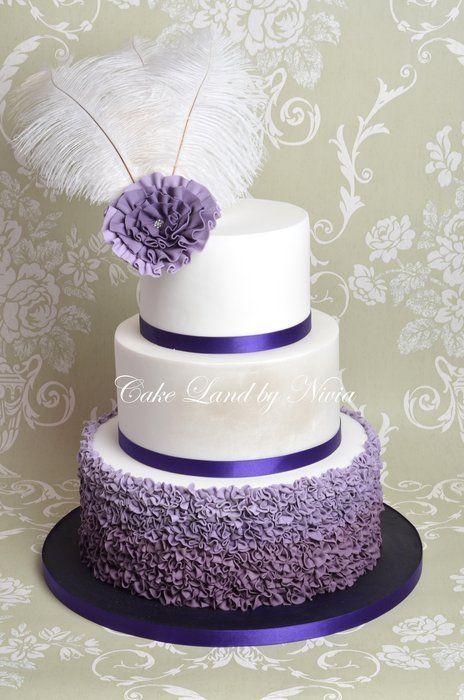 12 Purple Wedding Cakes Without Fondant Photo Purple Wedding Cake