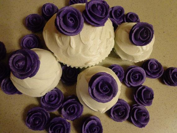 8 Dark Purple And White Cupcakes Photo Purple Cupcake Ideas