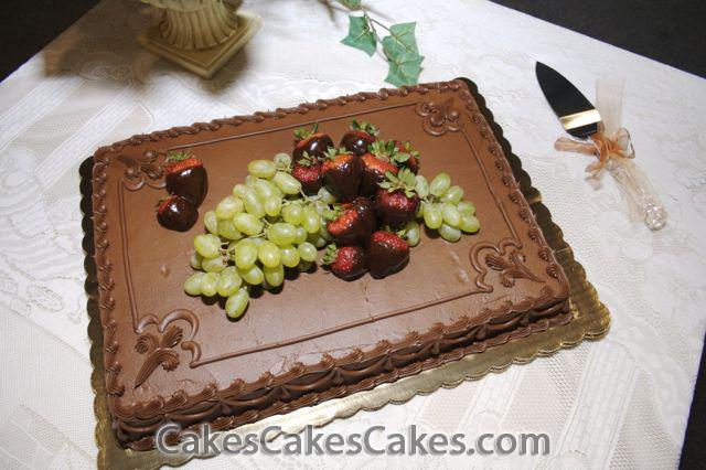 10 Sheet Cakes With Fruit On Them Photo FruitFilled Sponge Cake