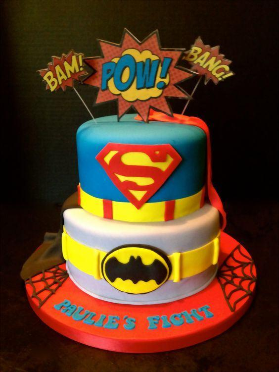 Superhero Birthday Cakes For 3 Year Old Boys