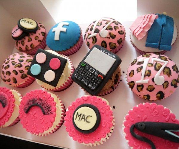 Teenage Girl Birthday Cupcakes
