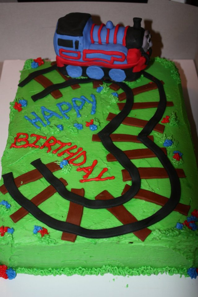 Thomas The Train Cake For 3 Year Old Boys