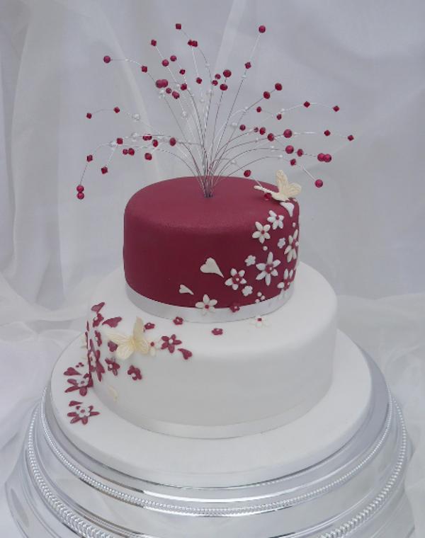 11 Girls Birthday Cakes 2 Tear Flower Photo Pink Buttercream Tier