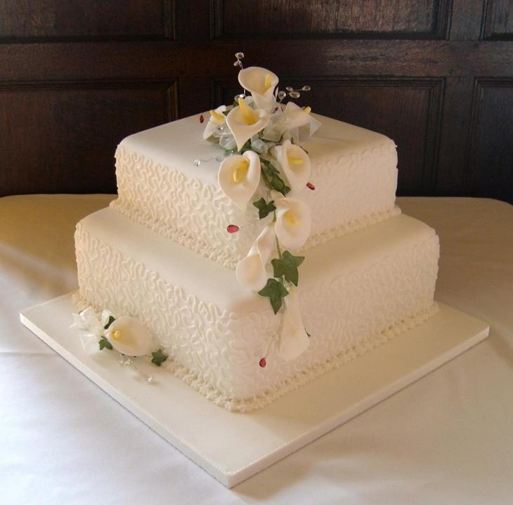 13 Tiered Square Wedding Cakes Photo - 2 Tier Square Wedding Cake ...