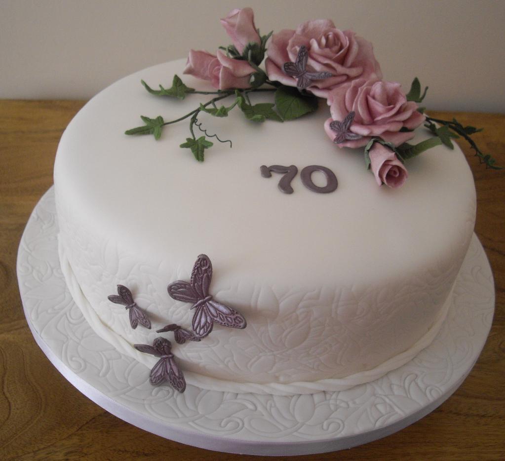 70th Birthday Cake Decorating Ideas
