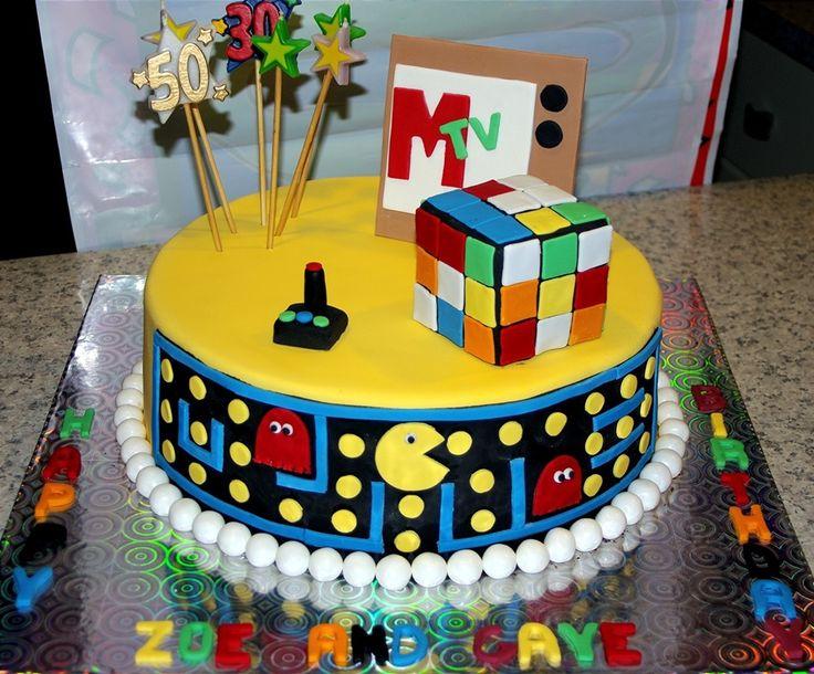 80s Theme Birthday Party Cake Ideas