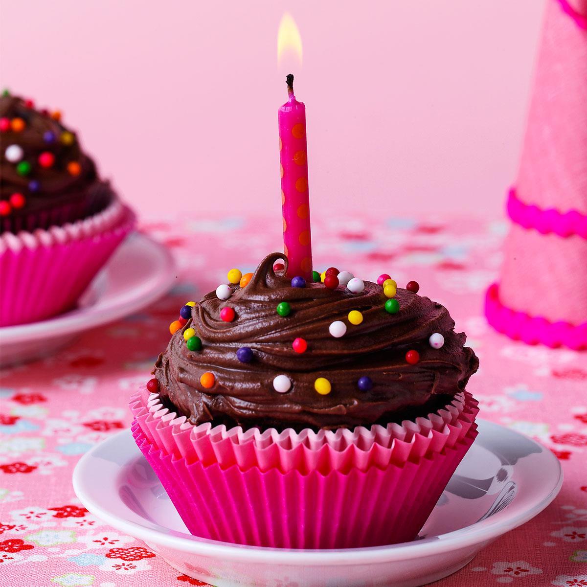 A Cupcake Candy Birthday Cake
