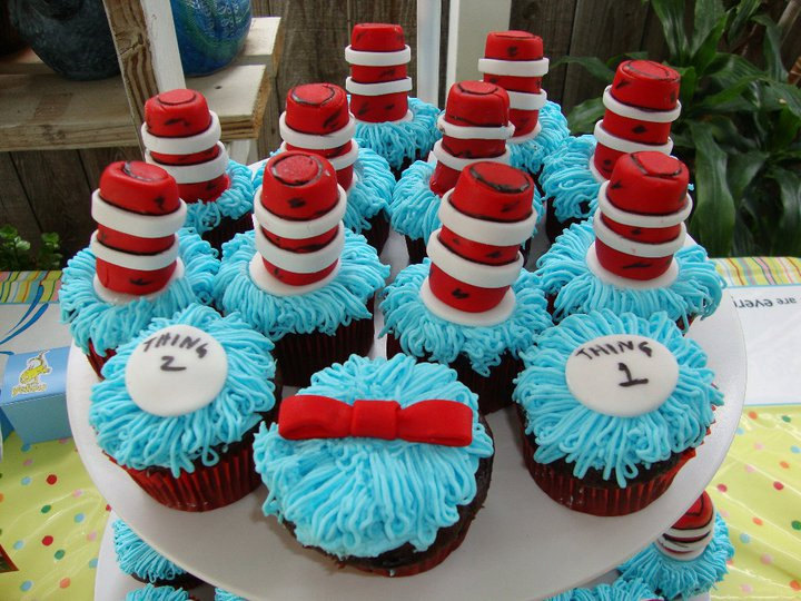Pleasing 13 Small Cat In The Hat Birthday Cake And Cupcakes Photo Personalised Birthday Cards Epsylily Jamesorg