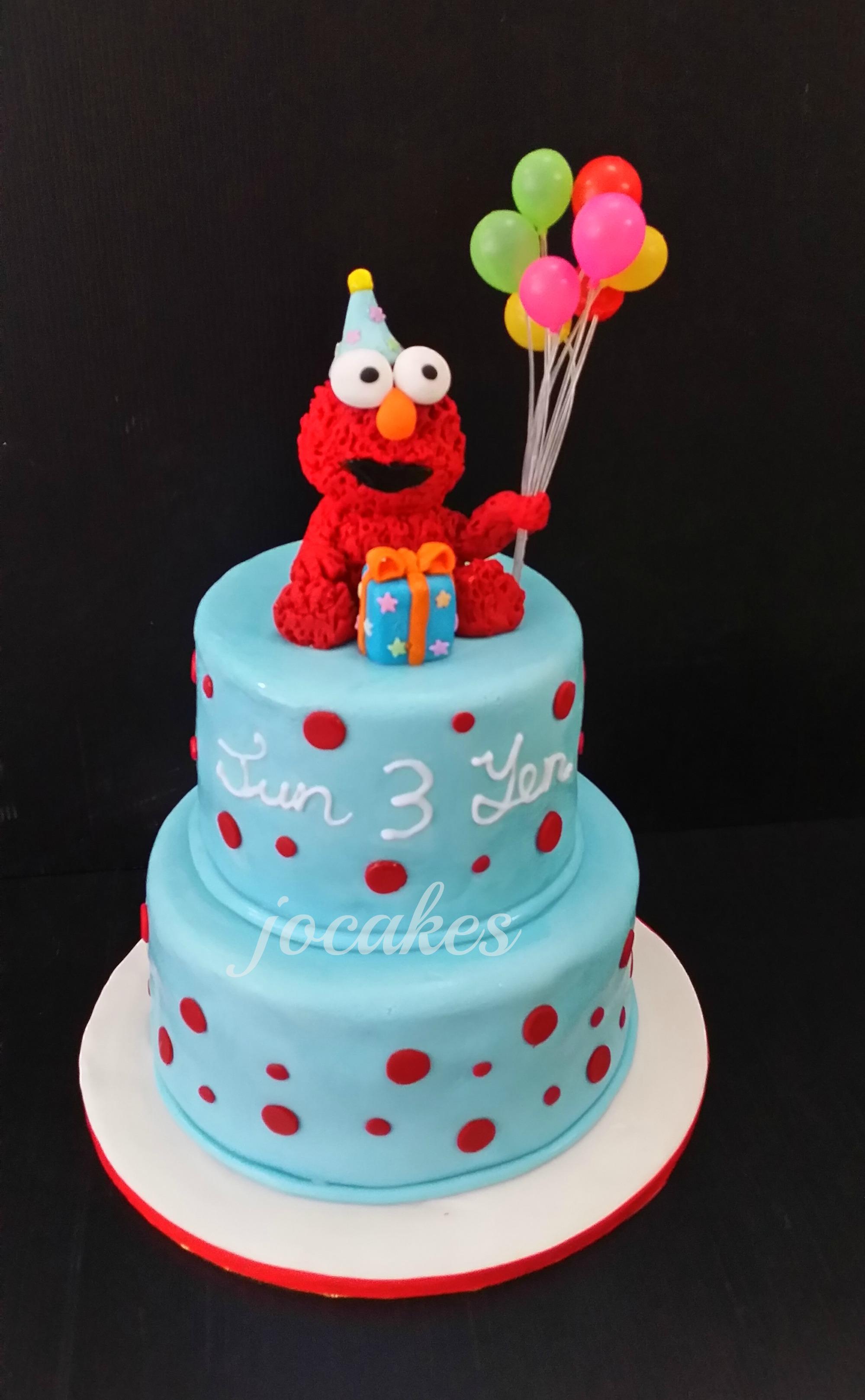 Elmo 2 Birthday Cake
