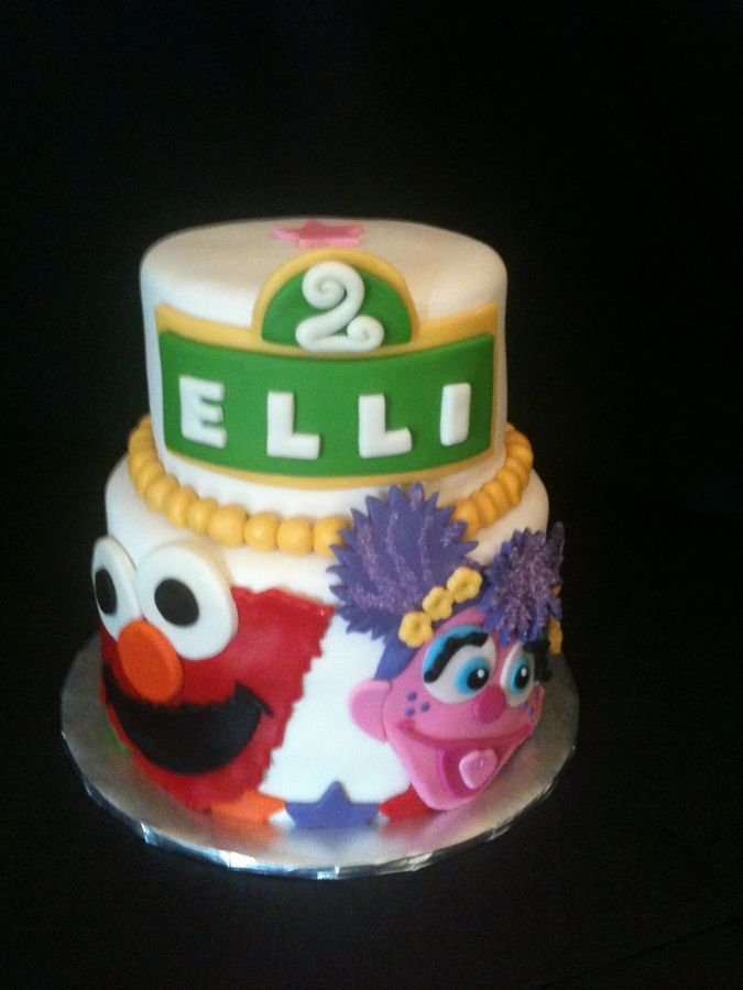 Elmo And Abby Birthday Cake