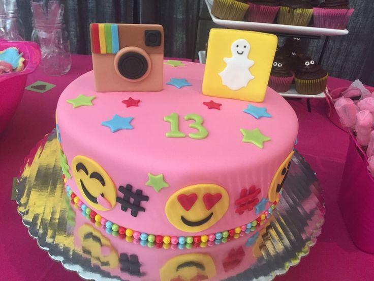 9 snapchat birthday cakes for girls photo snapchat birthday cake