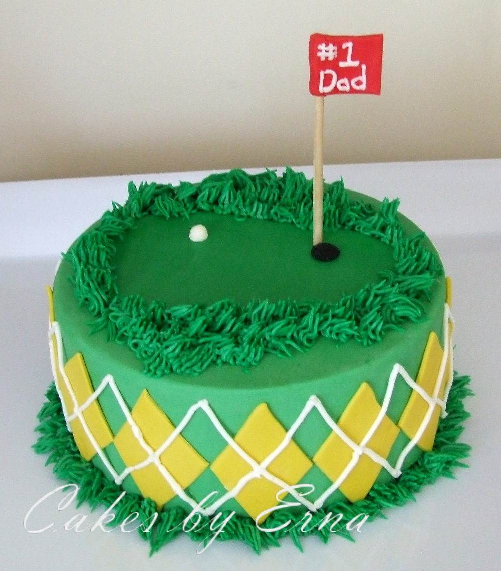 8 Photos of Father's Day Golf Cakes