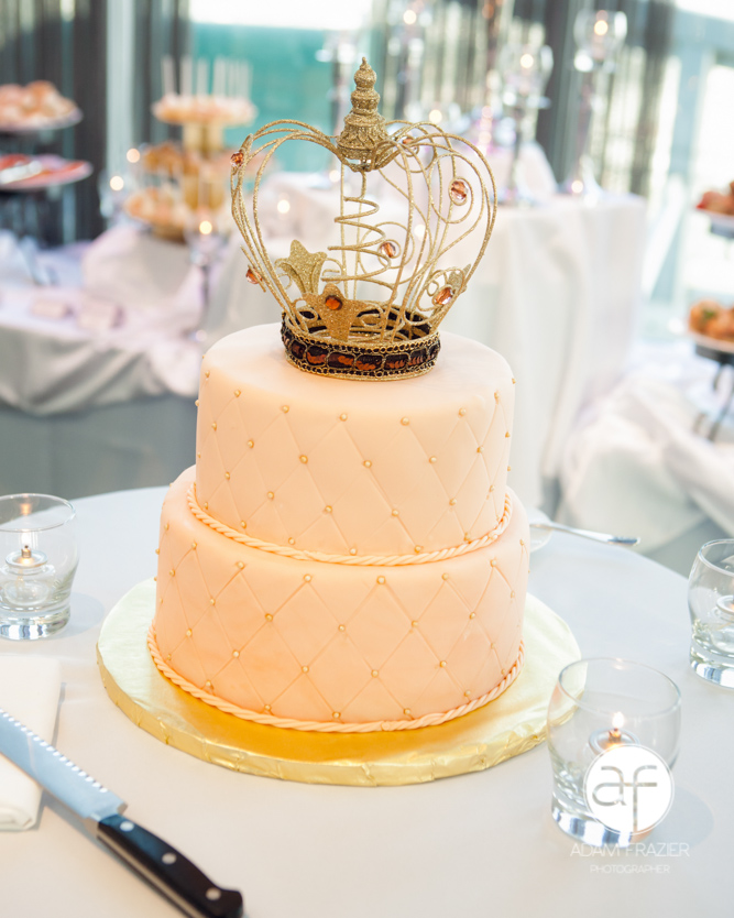 11 Wedding Cakes Pink Crown Photo - Gold Crown Cake Topper, Gold ...