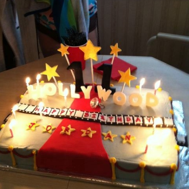 Cool 11 Hollywood Sign Cakes Photo Hollywood Birthday Cake Hollywood Funny Birthday Cards Online Elaedamsfinfo