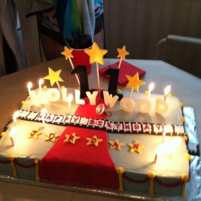 Brilliant 11 Hollywood Sign Cakes Photo Hollywood Birthday Cake Hollywood Funny Birthday Cards Online Alyptdamsfinfo