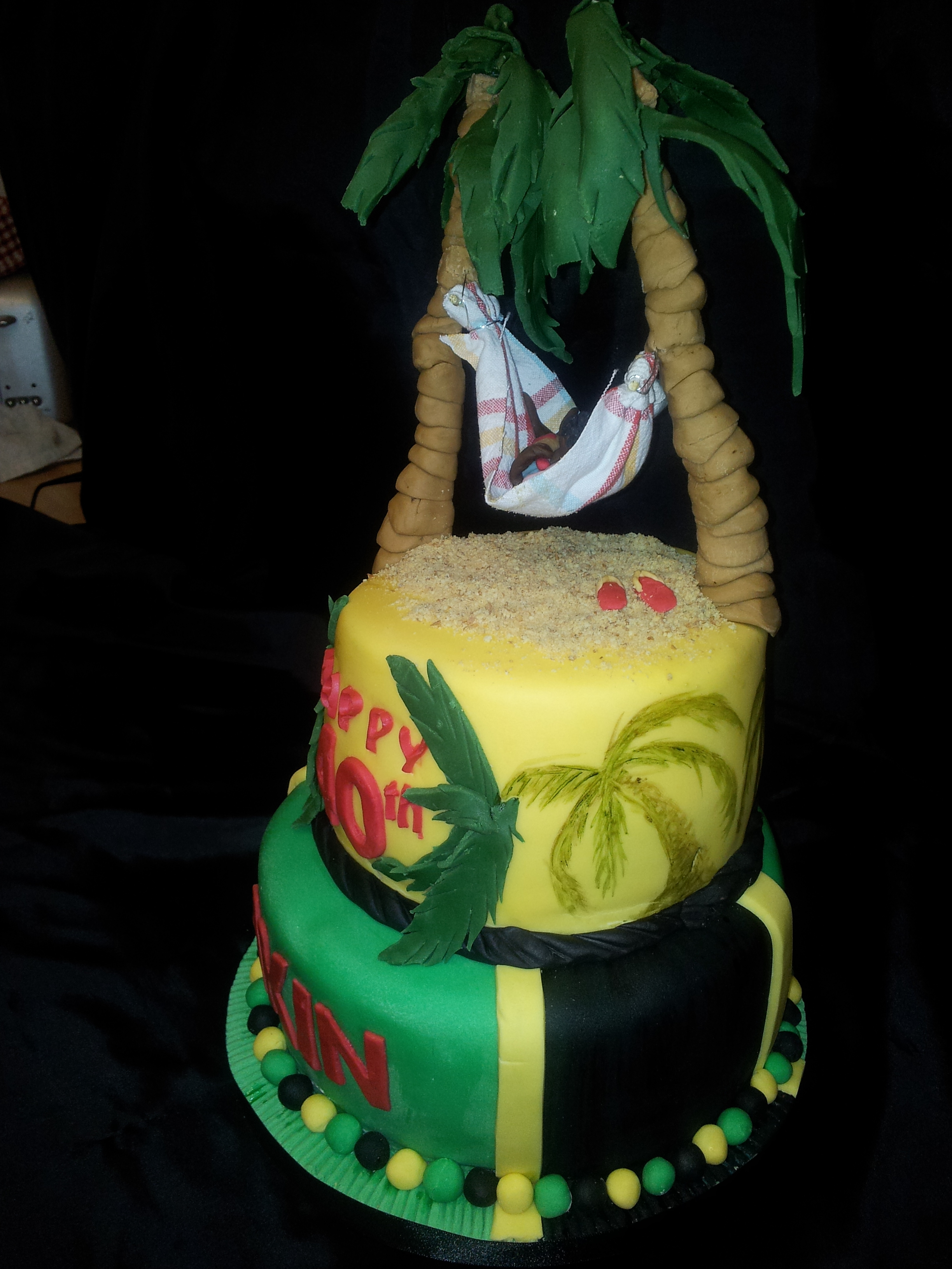 Fine 11 Jamaican Looking Cakes Photo Jamaican Flag Cupcake Cake 40Th Personalised Birthday Cards Paralily Jamesorg