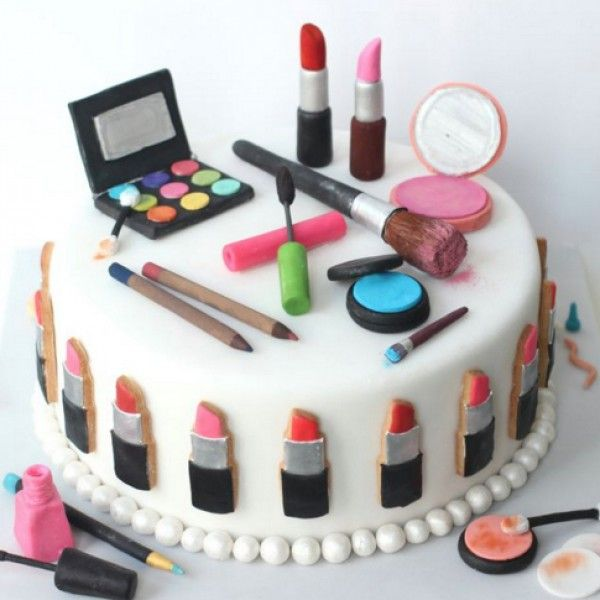 11 Girl Makeup Cakes Photo , Makeup Birthday Cake, 8 Year